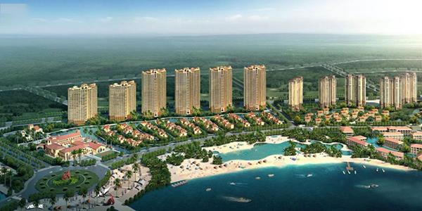 惠州富力湾鸟瞰图