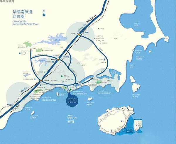 华凯南燕湾区位图