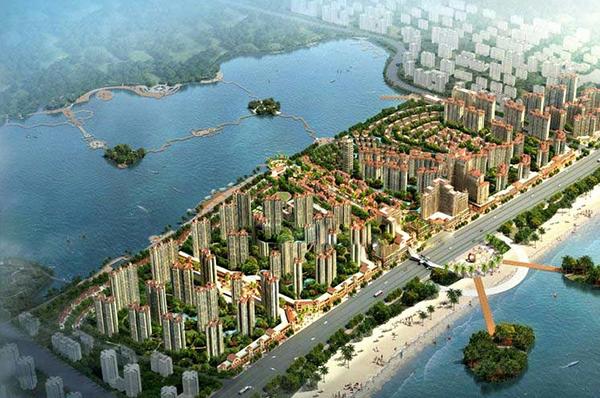 广西防城港龙光阳光海岸鸟瞰图