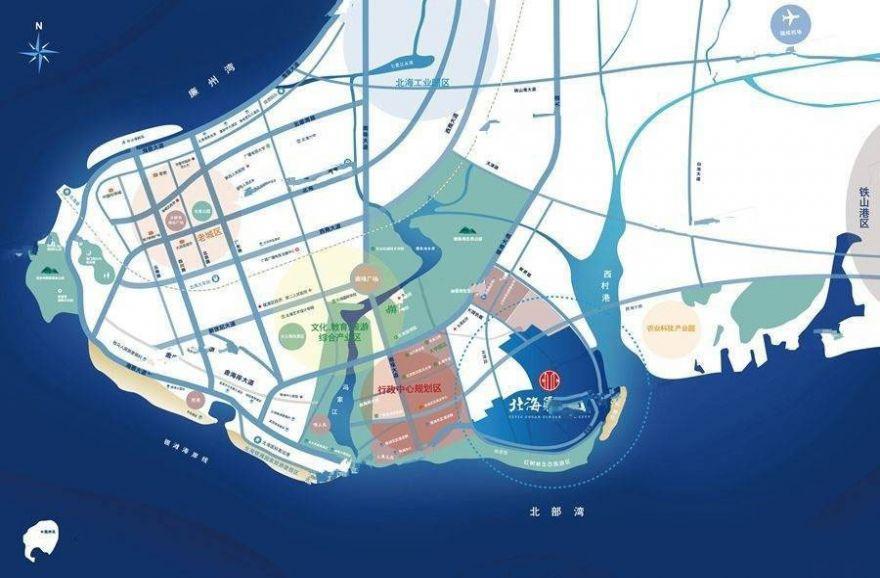 广西北海中信国安北海第一城区位图