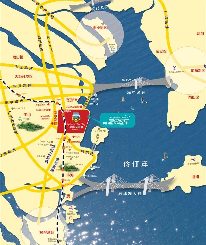 锦绣海湾城交通图