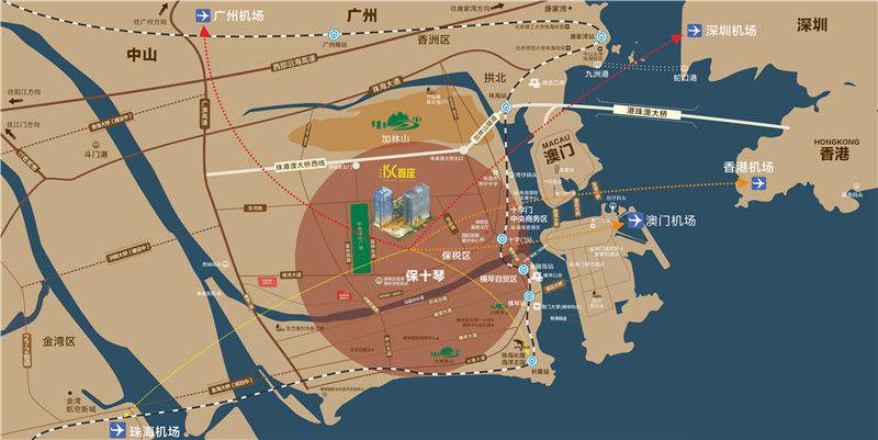 港珠澳ISC首座区位图