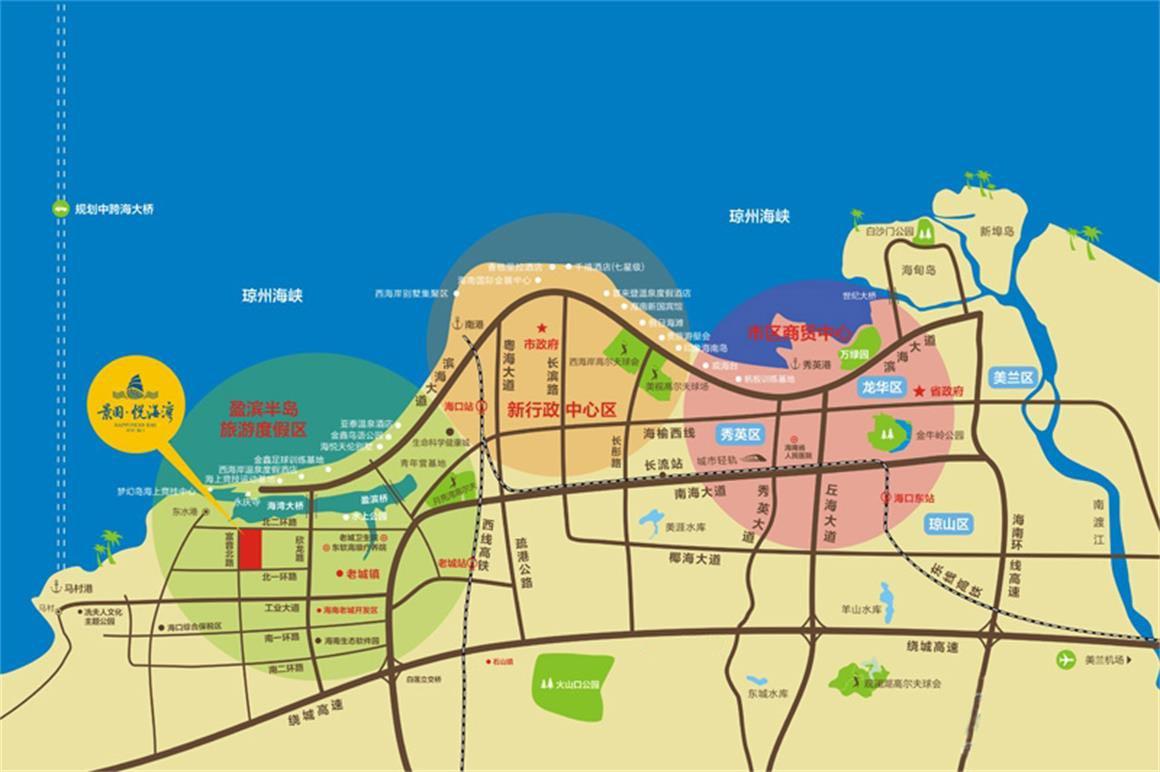 景园悦海湾区位图
