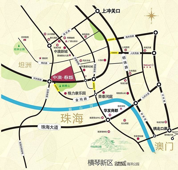 中澳春城区位图