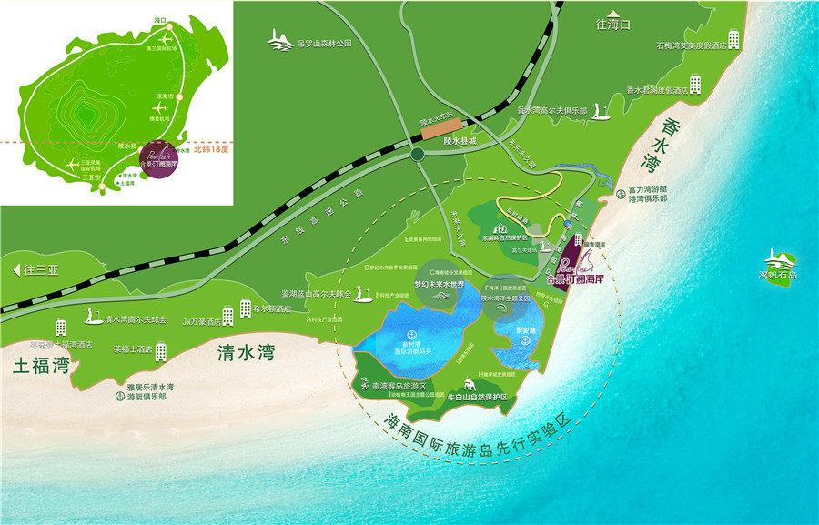 合景汀瀾海岸區位圖