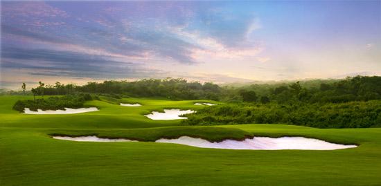 观澜湖高尔夫球场实景图