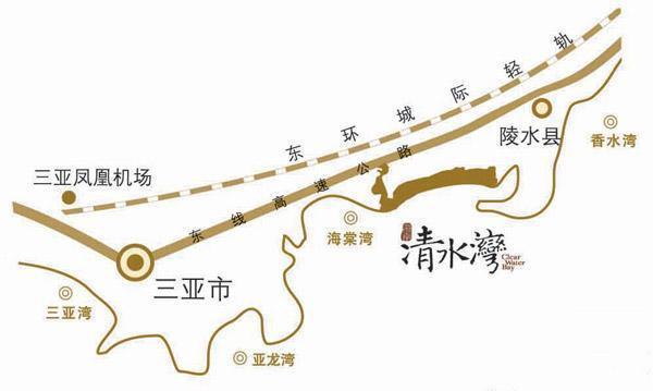 雅居乐清水湾区位图