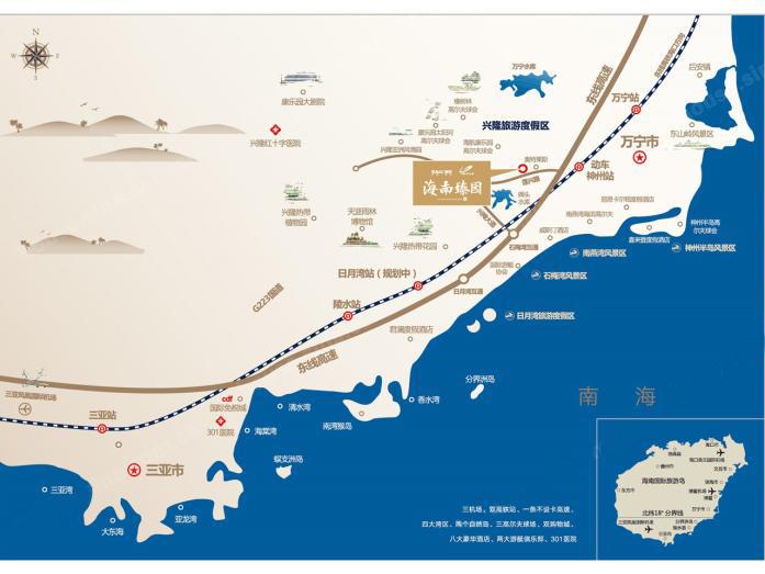 海南融创臻园区位交通图