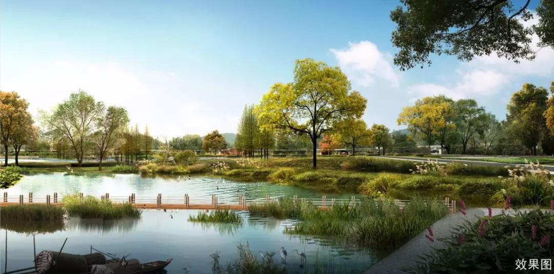 昆明融创万达文化旅游城湿地公园效果图