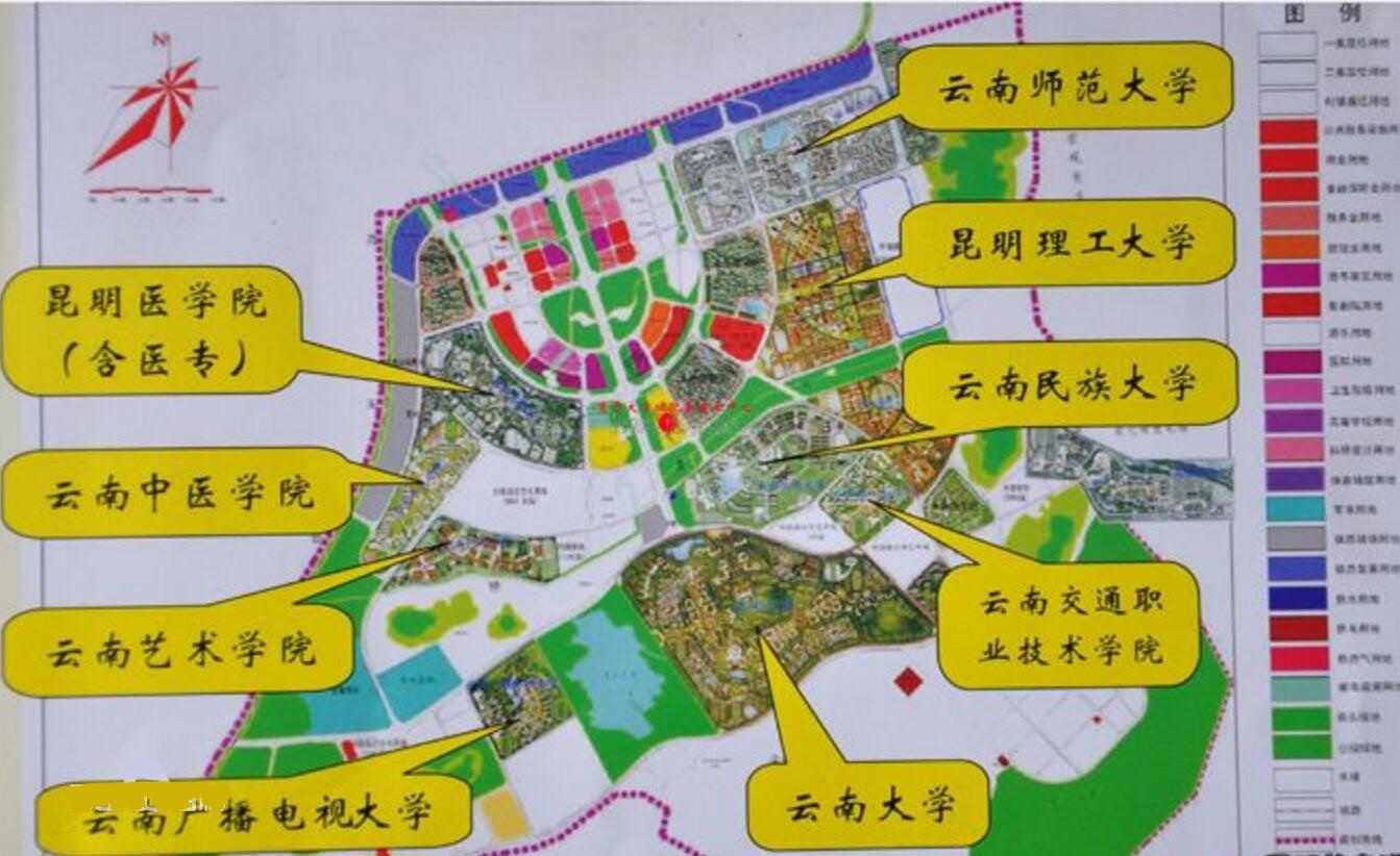 呈贡大学城分布