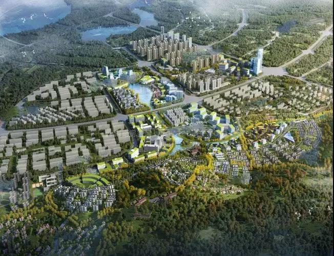 绿地滇池国际健康城鸟瞰图