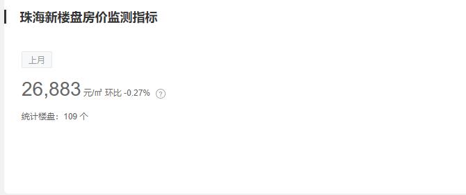 珠海房价 来源:中国房价行情网
