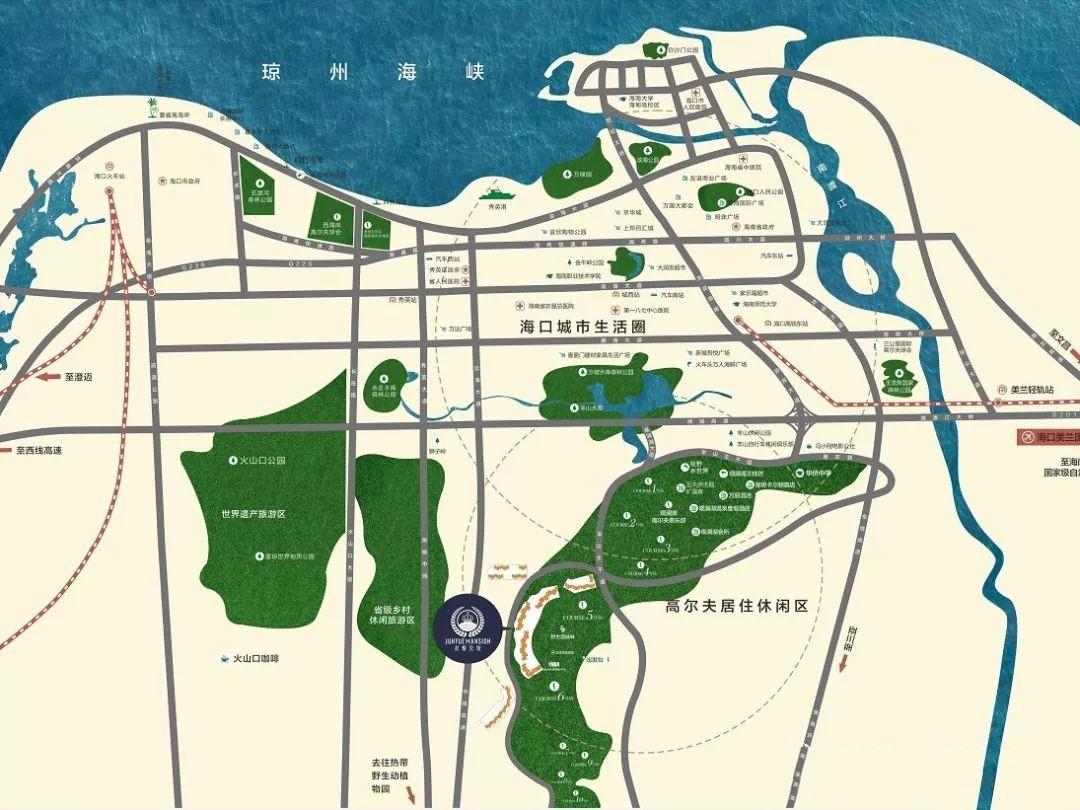 观澜湖君悦公馆区位图