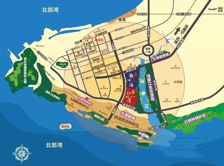彰泰观江海区位图