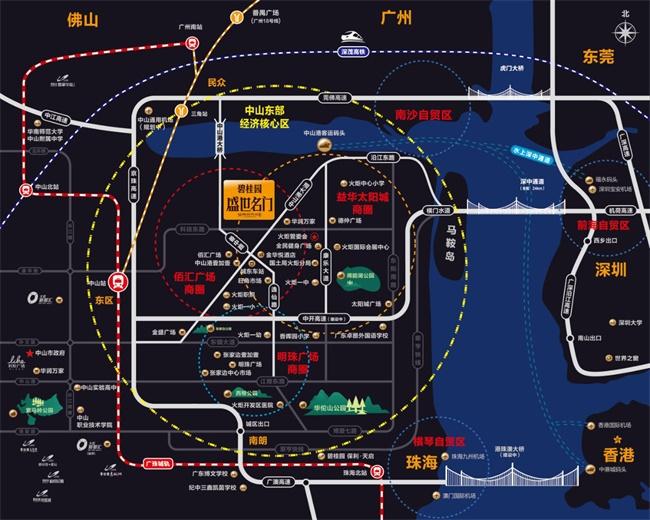 碧桂园盛世名门区位图