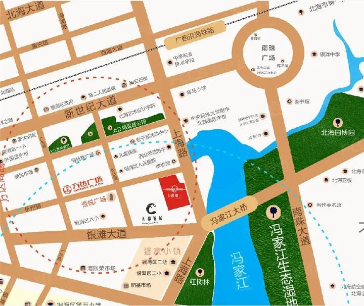 大都锦上区位图