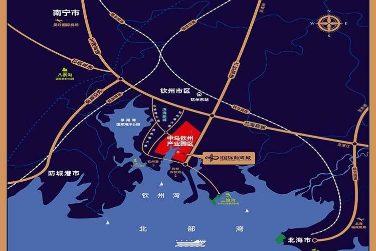 北部湾国际海湾城区位图