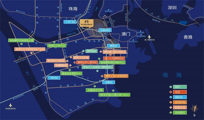 横琴珠江湾区位图