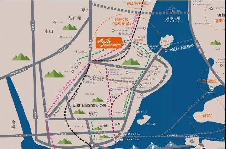 雅居乐国际花园区位图